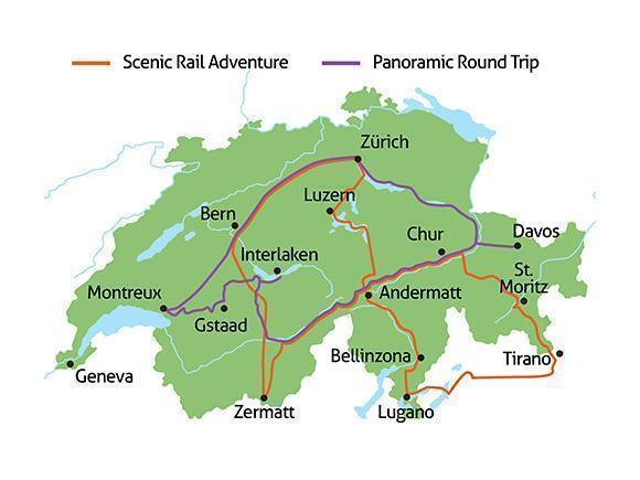 Scenic Rail Journeys Map